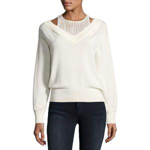 T by Alexander Wang Layered Deep V Sweater Medium